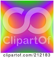 Royalty Free RF Clipart Illustration Of A Colorful Rainbow Fractal Background by ShazamImages