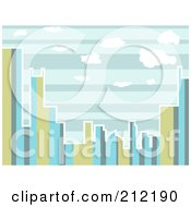 Royalty Free RF Clipart Illustration Of A City Skyline Of Stripes During The Day by mheld