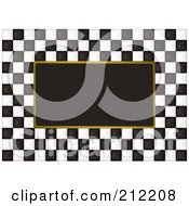 Royalty Free RF Clipart Illustration Of A Black And White Checkers Over Black 2 by michaeltravers