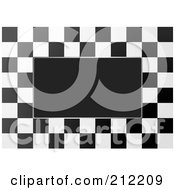 Royalty Free RF Clipart Illustration Of A Black And White Checkers Over Black 1