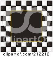 Royalty Free RF Clipart Illustration Of A Black And White Checkers Over Black 3 by michaeltravers