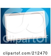 Royalty Free RF Clipart Illustration Of A Slanted Blank Business Card Space Over Blue by michaeltravers