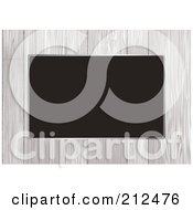 Royalty Free RF Clipart Illustration Of A Border Of White Wood Panels Over Black by michaeltravers