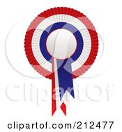 Royalty Free RF Clipart Illustration Of A Red White And Blue Rosette Award Ribbon