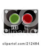 Royalty Free RF Clipart Illustration Of Yes And No Red And Green Buttons On A Black Plate