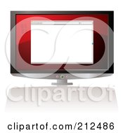 Royalty Free RF Clipart Illustration Of A Blank Web Browser On A Computer Screen by michaeltravers