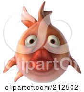 Royalty Free RF Clipart Illustration Of A 3d Pink Fish With Big Lips by Julos