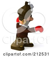 Royalty Free RF Clipart Illustration Of A 3d Young Pirate Boxing With Red Gloves 3 by Julos