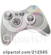 Gray Video Game Controller With Buttons And Knobs