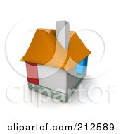 Royalty Free RF Clipart Illustration Of A 3d Block House by Jiri Moucka