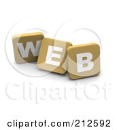3d Tan Blocks Spelling WEB