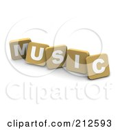 3d Tan Blocks Spelling MUSIC