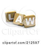 3d Tan Blocks Spelling LAW