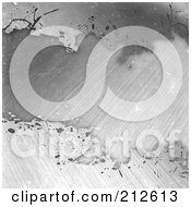 Royalty Free RF Clipart Illustration Of A Grungy Brushed And Bleached Metal Background 2