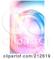 Royalty Free RF Clipart Illustration Of A Bright Fractal Over A Pastel Swirl Background
