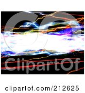 Royalty Free RF Clipart Illustration Of A Background Of Bright Speeding Lights Over Blackness