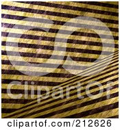 Royalty Free RF Clipart Illustration Of A Background Of Grungy Thick Yellow And Black Hazard Stripes Crossing