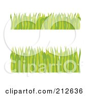 Royalty Free RF Clipart Illustration Of A Digital Collage Of Two Borders Of Green Grass Blades by Cherie Reve