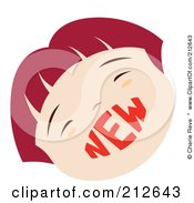Royalty Free RF Clipart Illustration Of A New Boy Face by Cherie Reve