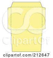 Royalty Free RF Clipart Illustration Of A Yellow Envelope Folding Design Template