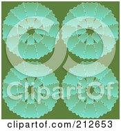Royalty Free RF Clipart Illustration Of A Seamless Repeat Background Of Circles On Green by chrisroll