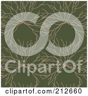 Royalty Free RF Clipart Illustration Of A Seamless Repeat Background Of Twigs On Green by chrisroll