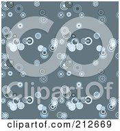 Royalty Free RF Clipart Illustration Of A Seamless Repeat Background Of Blue Circles On Blue by chrisroll
