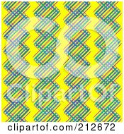 Royalty Free RF Clipart Illustration Of A Seamless Repeat Background Of Colorful Vertical Lines On Yellow