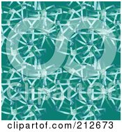 Royalty Free RF Clipart Illustration Of A Seamless Repeat Background Of Netting On Blue