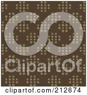 Royalty Free RF Clipart Illustration Of A Seamless Repeat Background Of Circles Of Tan Squares On Brown by chrisroll