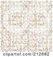 Royalty Free RF Clipart Illustration Of A Seamless Repeat Background Of Petals Over White