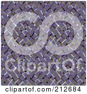 Royalty Free RF Clipart Illustration Of A Seamless Repeat Background Of Colorful Netting On Purple