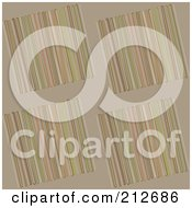 Royalty Free RF Clipart Illustration Of A Seamless Repeat Background Of Lines On Tan