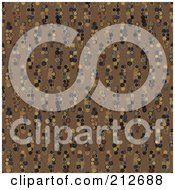 Royalty Free RF Clipart Illustration Of A Seamless Repeat Background Of Dark Circles On Tan by chrisroll