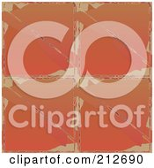 Royalty Free RF Clipart Illustration Of A Seamless Repeat Background Of Abstract Orange by chrisroll