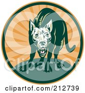Royalty Free RF Clipart Illustration Of A Mean Dog Logo