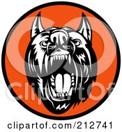 Royalty Free RF Clipart Illustration Of An Attack Dog Logo