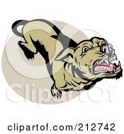 Royalty Free RF Clipart Illustration Of A Mean Dog Barking Upwards