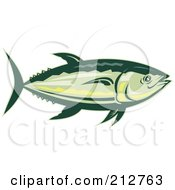 Royalty Free RF Clipart Illustration Of A Yellowfin Tuna Fish