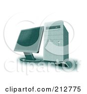 Royalty Free RF Clipart Illustration Of A 3d Computer Made Of Numbers