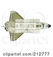 Royalty Free RF Clipart Illustration Of A Space Shuttle by patrimonio