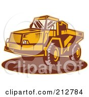 Royalty Free RF Clipart Illustration Of A Dump Truck Logo