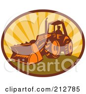 Royalty Free RF Clipart Illustration Of A Digger Bulldozer Logo