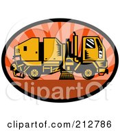 Royalty Free RF Clipart Illustration Of A Street Cleaner Logo