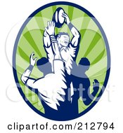 Rugby Lineout Logo