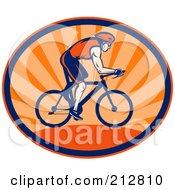 Royalty Free RF Clipart Illustration Of A Triathlon Cycling Logo