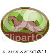 Royalty Free RF Clipart Illustration Of A Mink Logo by patrimonio