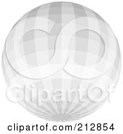 Royalty Free RF Clipart Illustration Of A Light Gray Disco Ball by dero