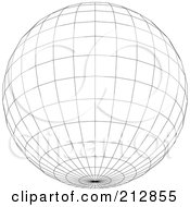Royalty Free RF Clipart Illustration Of A Wire Frame Sphere With A Point At The Bottom