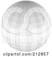 Royalty Free RF Clipart Illustration Of A Gray Disco Ball